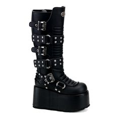 Studded Gothic Platform Boots