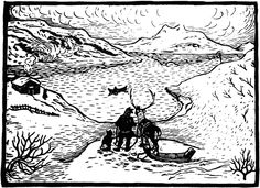Lappland, Lino Cuts, Printmaking, Snow, Black And White, History, Drawings, Prints, Painting
