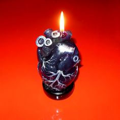 The Human Heart Candle. Ritual, wax, magic, mysticism.