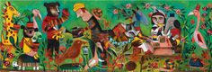 Djeco ~ Puzzle ~ Colourful Garden ~ 100pce Colorful Garden, Whimsical Art, Puzzle, Artist, Painting, Beautiful, Design, Products, Puzzles