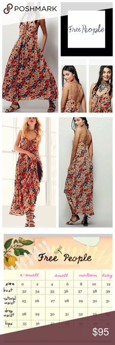 Free People Mulberry Floral Maxi Floral printed maxi dress in a flowy fit with a crisscross strappy back. Keyhole opening in back with adjustable tie. Hip pockets. Lined.  100% Rayon Machine Wash Cold   /////NWOT///// Free People Dresses