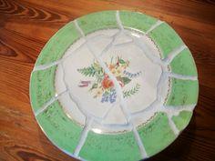 Broken plate mosaic lazy susan