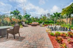 Would you say YES to playing a little CHESS on this patio?!