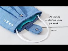 Additional protective layer for mask / to prolong the mask effectiveness. Sewing Hacks, Sewing Tutorials, Sewing Crafts, Sewing Projects, Sewing Patterns, Easy Face Masks, Diy Face Mask, Clothes Crafts, Sewing Clothes