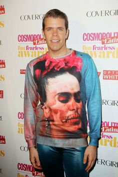 Blogger Perez Hilton on the red carpet at Cosmopolitan for Latinas Fun Fearless Awards 2014 in New York City!