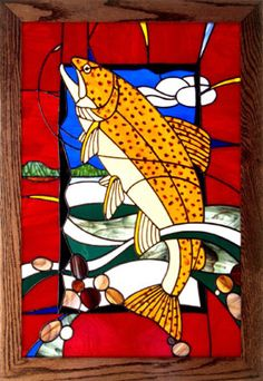 Stained glass for a fisherman
