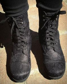 Give 'em the boot // Black Lace Combat Boots