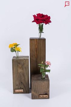 Unbelievable Modern Vases Succulents Ideas - Welcome my homepage Decor Crafts, Wood Crafts, Diy And Crafts, Small Wood Projects, Wood Vase, Wooden Flowers, Wooden Planters, Wood Interiors, Bottle Crafts