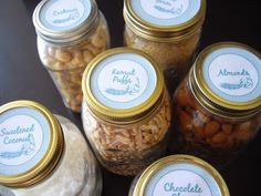 Mason Jars for food storage with free label prinable