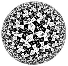 M.C. Escher - Circle Limit I, 1958. WikiPaintings.org