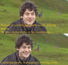 I love* Ramsay Bolton but LOVE Iwan Rheon!!! :D Note: Not my caption. I love them both. Really, though, what's not to love? Hahaha.