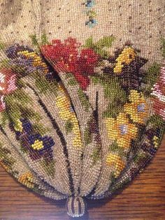 Exquisite Vintage Victorian Floral Micro Mosaic Beaded Evening Bag Purse | eBay