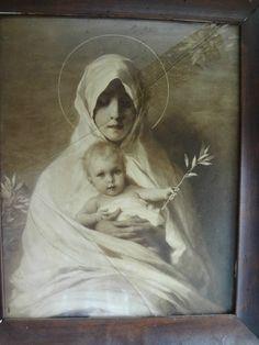 Antique religious artMadonna print