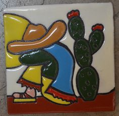 ✔ About 36 pieces of Add a special touch to any surface or project with these tiles! * Size: inch -You will receive a box of 36 mixed tiles, handmade in Talavera inches) [For tiles of the same size] Mexican Paintings, Mexican Art, Mexican Tiles, Talavera Pottery, Flower Pot Crafts, Painted Flower Pots, Mexican Designs, Clay Tiles, Pallet Art