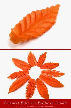 1 sculpture de fruit et légume: Comment Faire une Feuille en Carotte