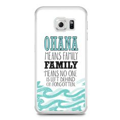 Ohana Means Family Lilo and Stitch Disney Samsung Galaxy S6 Edge Case