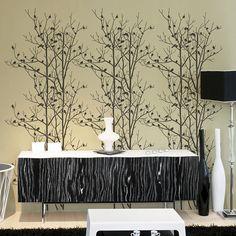 Birds In Trees Allover Stencil  Trendy by CuttingEdgeStencils