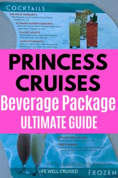 Princess Cruises Beverage Package Ultimate Guide cocktail menu Packing For A Cruise, Cruise Tips, Beverage Packaging, Coffee Packaging, Princess Drinks, Patron Silver Tequila, Virgin Cocktails, Cruise Ship Reviews, Malibu Coconut