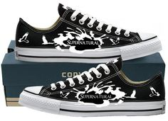 Hand Painted Converse Lo Sneakers. by GenuineTouchDesigns on Etsy