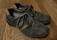 Skechers Men's Lace Up Casual Leather Shoes Size 9  #Skechers #Oxfords