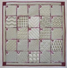 Needlepoint stitch sampler, charted needlepoint