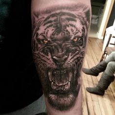 3D Realistic Tiger Tatto on Forearm
