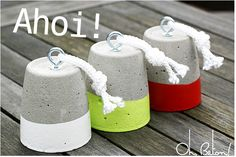DIY Concrete Door Stoppers
