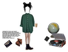 """""""No. 7"""" by melissaemily08 ❤ liked on Polyvore featuring Dr. Martens, Crosley Radio & Furniture and FOSSIL"""