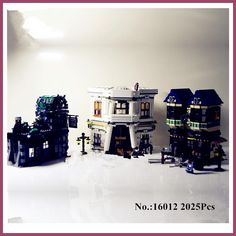 In-Stock H&HXY 16012 2025Pcs Limited Edition Harry Potter Series The Diagon Alley Educational Lepin Building Blocks Bricks Toys