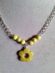 Flower Necklace Yellow Necklace Children's by prettylittlepretties, $12.00