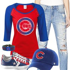 Chicago Cubs Converse Outfit