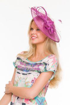 Amelia Hughes wears 'Lydia' fascinator $79.95