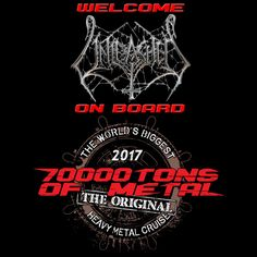 The Hammer Battalion will be UNLEASHED on board Round 7 of 70000TONS OF METAL, The Original, The World's Biggest Heavy Metal Cruise! Like all artists on board UNLEASHED will play once on the way to spectacular Labadee, and once on the way back from our Caribbean dream destination.  #70000tons #metalcruise