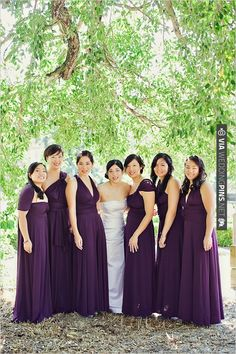 purple twist wrap dress by the dessy group | CHECK OUT MORE IDEAS AT WEDDINGPINS.NET | #bridesmaids