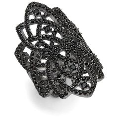 Noir Crystal Statement Ring (46 AUD) ❤ liked on Polyvore featuring jewelry, rings, accessories, cocktail rings, crystal stone jewelry, crystal rings, crystal cocktail ring and crystal jewelry
