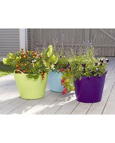 Self-Watering TubTrug Planter - Gardener's Supply Company