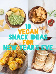 If you're looking for vegan recipe ideas for New Years Eve.. you're in luck! In this post, I've collected my all-time favorite snacks for you.