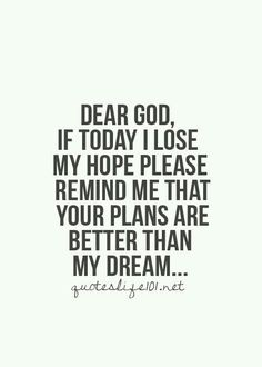 Hope dreams god