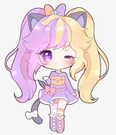 Art Trade With Merindity Kawaii Draw Drawing Anime Chibi Anime Chibi Kawaii Girl Drawings . Chat Kawaii, Arte Do Kawaii, Kawaii Chibi, Kawaii Art, Kawaii Anime Girl, Anime Art Girl, Anime Girls, Anime Neko, Cute Anime Chibi