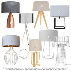 Fundi Lighting: How To Select The Perfect Table Lamp Tripod Table Lamp, Steel Table, Paint Colours, Decorating Your Home, Flooring, Interior Design, Lighting, Modern, Inspiration