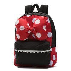 Shop Disney x Vans Minnie Realm Backpack today at Vans. The official Vans online store. Vans Backpack, Black Backpack, Backpack Bags, Red Vans, Black Vans, Mickey Minnie Mouse, Disney Mickey, Hello Kitty Clothes, Disney Vans