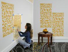 Kreative Wandgestaltung Farbe Beispiele #1