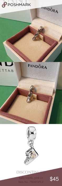 Baby Bootie, Pink stone, & 14k gold - retired Authentic Baby Girl Bootie charm in excellent condition. Ask if you are interested in a custom bundle. Happy to consider offers via the offer button. Pandora Jewelry