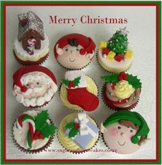 Christmas Cupcake Toppers by www.sugarandspicecakes.co.nz