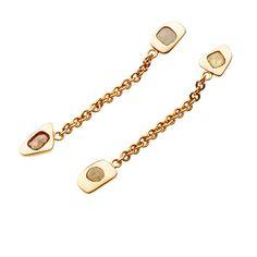 #orecchini collezione #MYKONOS in oro rosa, 2 elementi diamanti Fancy cm 7