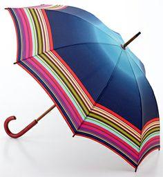 Fulton Designer Luxury Umbrella Stripe Ombre