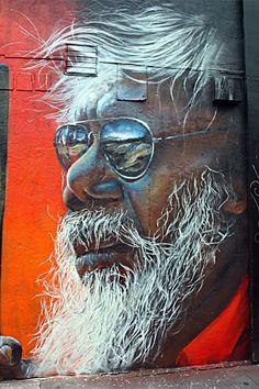 Matt Adnate - Brick Lane Street Art in London, UK