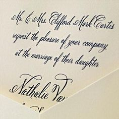 Hand Engraved Ballroom at Midnight Invitation: Glamour and grand entrances. One would expect nothing less as the recipient of this ecruwhite invitation engraved in elegant navy script.