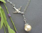 Bird Necklace. $24.00, via Etsy.