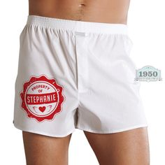 Express your love in a sexy way! Get a customized boxer short for him. Contact us : info@1950studio.com / 250-3762 / 286-4787.